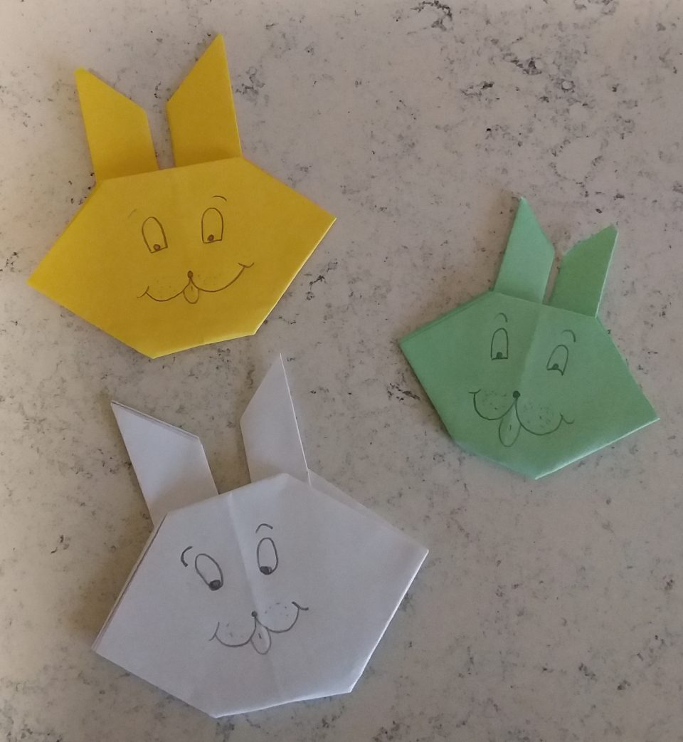 Coniglio Ppasquale origami