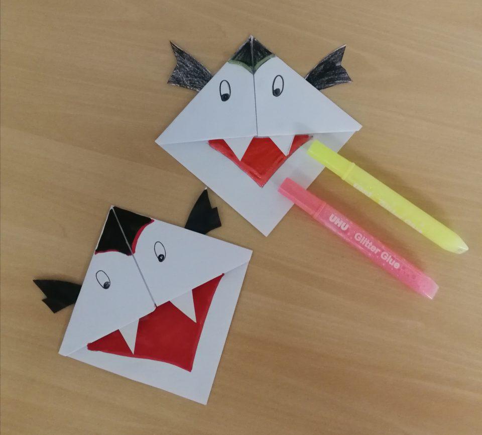 Vampiri segnalibri origami